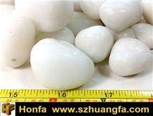 Pure White Pebble Stone 3-5cm, River Stone, Pebble Walkway