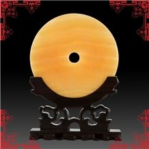 China Yellow Onyx Artifacts & Handcrafts-Clasp