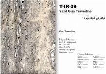 Yazd Grey Travertine Tiles & Slabs, Grey Travertine Floor Tiles