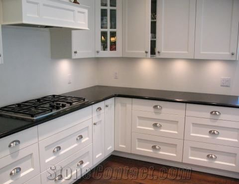 Absolute Black Granite Kitchen Countertops India from ...