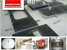 3cm Verde Ubatuba Granite Hotel Suite Kitchenette Counter Tops