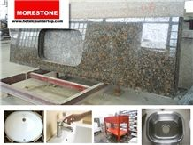Baltic Brown Granite Kitchen Countertop for Condominium Renovation