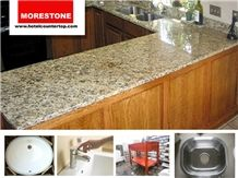 Giallo Santa Cecilia Granite Kitchen Countertop