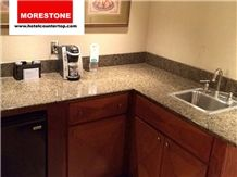 Granite Giallo Veneziano Kitchen Countertop for Embassy Suites Hotel