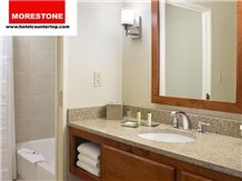 Granite Golden Yellow Bathroom Vanitytop for Double Tree Hotel, Made in China