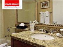 Granite Santa Cecelia Bathroom Countertop for Embassy Suites Hotel