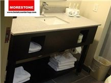 Holiday Inn Hotel Engineered Quartz Vanitytop and Wood Base