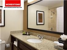 Hotel Granite Countertop, Wood Base Vanity and Faucet
