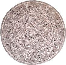 Artmosaic, Crema Nouva Marble Mosaic Medallion, Beige Mosaic Medallion