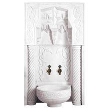 Decorative Hammam Wall Panels, Mugla White Marble Bath Design Turkey