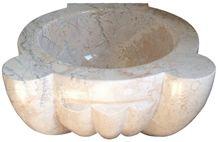 Marble Hammam Basin, Anatolian Beige Marble Sinks & Basins Turkey