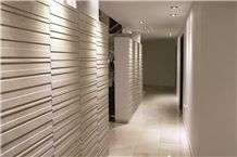 Collection 30×60 Regola a Cnc Carved 3d Wall Panels, Camargo Limestone Wall Panels, Beige Limestone for Walling