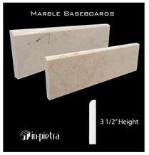 Marmol Crema Mexicano Baseboards, Winodw Sills, Beige Marble Window Sills