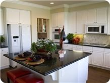 Absolute Black Granite Kitchen Island Countertop