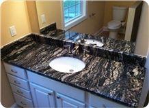 Black Cosmic Granite Vanity Top