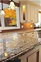 Exotic Ouro Brazil Granite Dupont Edge Countertop