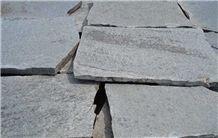 Silver-Gray Gneiss Flagstone