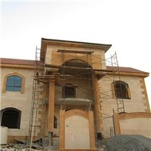 Cream Saudi Stone and Yellow Saudi Stone Building Project
