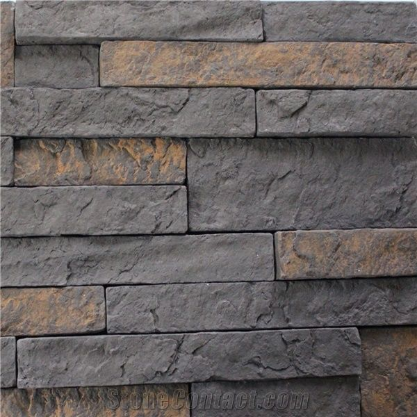 Artificial Cultural Stone Veneer Faux Ledge Stone Wall