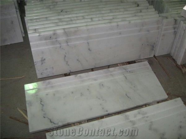Good China White Marble Steps,Guangxi White Marble Stair Treads,Polished China  Carrara White Marble Staircase U0026 Stair Riser,Non Slip Guangxi White Marble  Stair