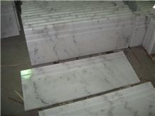 China White Marble Steps,Guangxi White Marble Stair Treads,Polished China Carrara White Marble Staircase & Stair Riser,Non-Slip Guangxi White Marble Stair