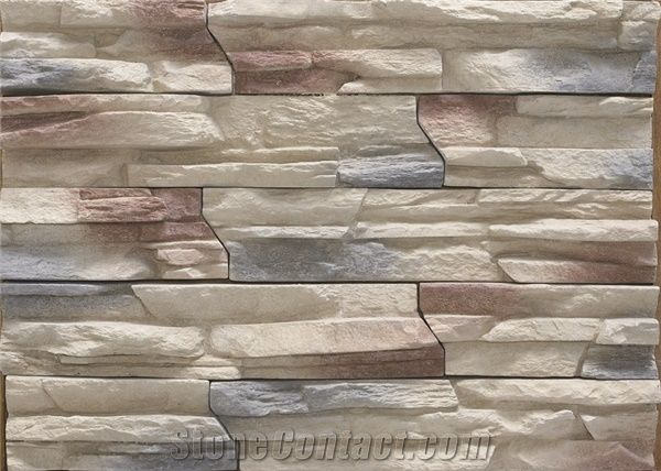Interior/Exterior Faux Stone Veneer,Cultured Ledge Stone, Shaped From  Silicon Molds,Light Weight Man Made Ledgestone,Manufactured Stacked Stone  Veneer