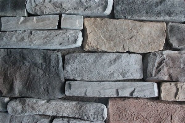 Light Weight Waterproof Cultured Stone Fieldstone,Interior Exterior  Manufactured Stacked Stone Veneer,High Quality Faux Stone Castle Rock Veneer