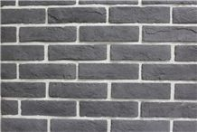 Nice Black Color Cheap Fake Stone Bricks, Building Stones,Labor Saving Quality Artificial Bricks Ledge Stone,Man Made Stacked Stone Walling Tiles for Hotel Wall Decor