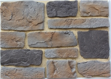 Portland Cement Composed Manufactured Stone Castle Rock Veneer,Cultured Fieldstone Wall Decor,Fake Stacked Stone Veneer,Faux Stone Loose Rock Ledge Stone,Castle Rock Veneer