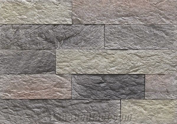 Weathering Resistant Cultured Manufactured Stone Wall