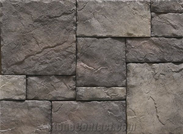 Western Style Cultured Castle Stone Veneer Indoor Stone Wall Interior Manufactured Ledge Stone
