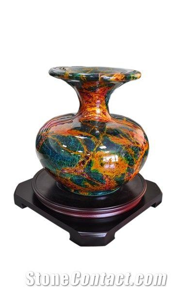 Seven Coloured Jade Stone Vase From India Stonecontact