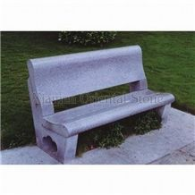 China G603 Grey Granite Garden Bench, Exterior Stone Benches Street Furniture, Outdoor Landscaping Stones Park Chairs