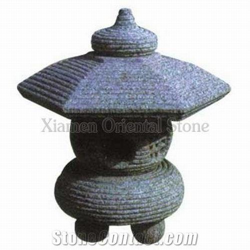 China G603 Grey Granite Garden Lanterns, Oriental Stone Garden Lanterns