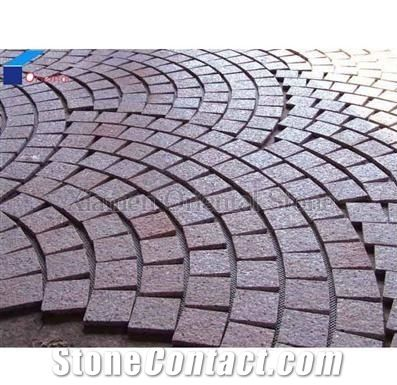 China Granite Outdoor Floor Covering Cube Stone Garden Decoration Paving Landscaping Mosaic Cobble Exterior Pattern Sets