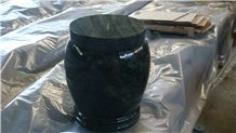 China Green Marble Memorial Funeral Accessories Urns for Ashes, Natural Stone Crematorium Cinerary Casket for Cemetery, Cremation Round Urns, Monumental Urns, Urn Vaults