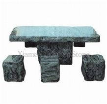 China Multicolour Grain Granite Garden Bench Tables, Exterior Stone Benches Street Furniture, Outdoor Landscaping Stones Park Chairs, Garden Table Sets