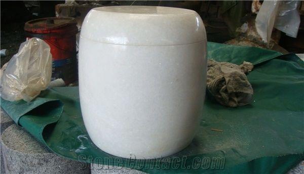 China White Marble Memorial Funeral Crematorium Accessories