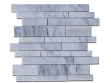 White Sky Marble Line Mosaic