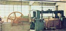 Machine 6587 Tlm Brand Simec Model M 40 Gangsaw Multi Blade Marble Gangsaw