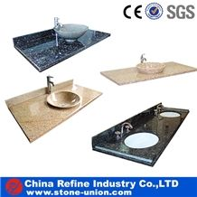 Standard Bathroom Granite Vanity Tops, Polished Granite Countertop, Grnaite Stone Wash Top Manufacturer, Modern Interior Bathroom Decorated Vanity Top or Bathroom Top
