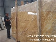 Dubai Gold Marble Slabs & Tiles, Brazil Yellow Marble Floor Covering Tiles for Project