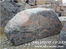 Multicolor Red Granite Landscape Stone, Garden Boulders