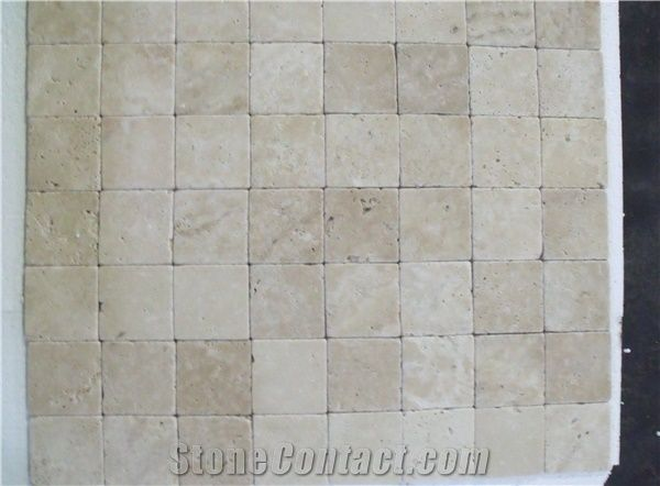 4x4 3x6 6x6 Eskitme White Travertine Tiles Slabs Wall Tiles Floor