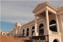 Beige Limestone Roman Column for Villa Building