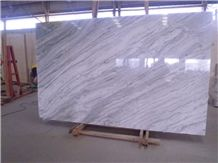 Picaso Seawave White Marble Straight Veins Fior Pesco Marble Slab Tile,Polished a Quality Machine Cut Skirting Panel Wall Cladding,Floor Covering Pattern