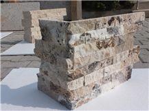 Philadelphia Travertine L Shape Corner/Split Face, Travertine Building Stones