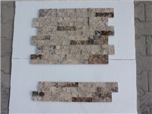 Philadelphia Travertine Split Face Ledger Panel, Ledge Stone, Multicolor Travertine Wall Cladding, Wall Tiles