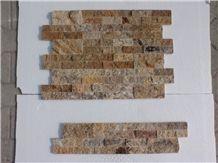 Scabas Travertine Split Face Ledger Panel, Ledge Stone