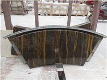 China Portoro Gold Marble Vanity Top, Brown Marble Bathroom Countertops, Custom Vanity Tops